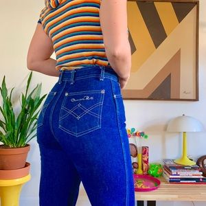 Vintage 70s Oscar de la renta cropped jeans 25x26